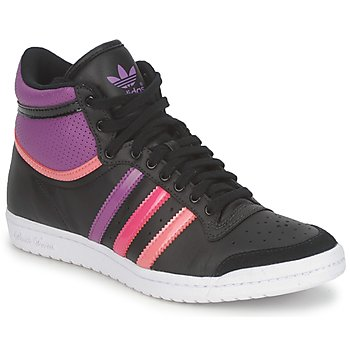 Chaussures Femme Baskets montantes adidas Originals TOP TEN HI SLEEK Noir / Rose