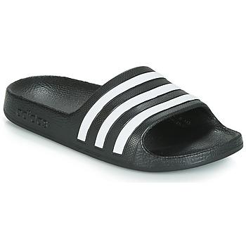 Chaussures Enfant Claquettes adidas Originals ADILETTE AQUA K Noir / Blanc