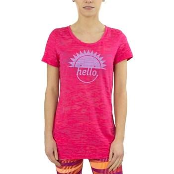 Vêtements Femme T-shirts manches courtes Reebok Sport RH Burnout Tshirt Rose