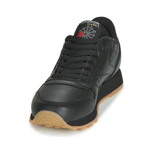 Cl Noir Chaussures Lthr Basses Reebok Classic Baskets E9WIDHY2