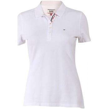 Vêtements Femme Polos manches courtes Tommy Hilfiger Polo Slim Manches Courtes Blanc