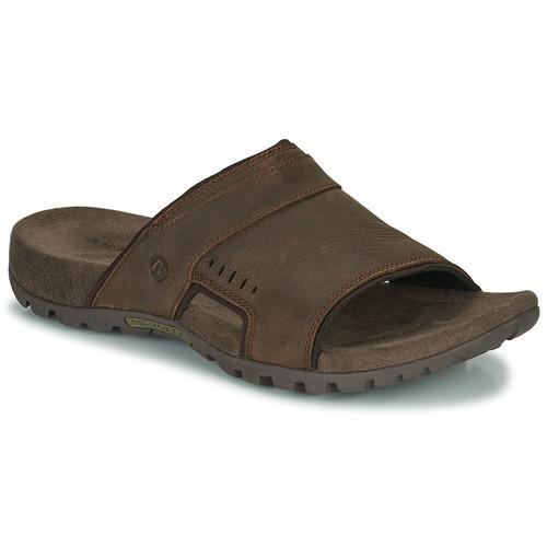 Chaussures Homme Mules Merrell SANDSPUR LEE SLIDE Marron