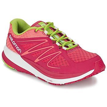 Chaussures Femme Running / trail Salomon SENSE PULSE WOMAN Rose / Orange / Vert