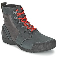 Chaussures Homme Boots Sorel ANKENY MID HIKER RIPSTOP Noir / Gris