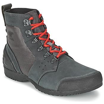 Bottines / Boots Sorel ANKENY MID HIKER RIPSTOP Noir / Gris 350x350