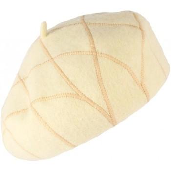 Accessoires textile Femme Bonnets Léon Montane Beret Femme beige et doré à losanges Molly Beige