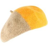 Accessoires textile Femme Casquettes Léon Montane Beret Femme orange et marron tendance Mado Orange
