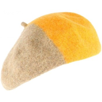 Bonnet Léon Montane Beret Femme orange et marron tendance Mado
