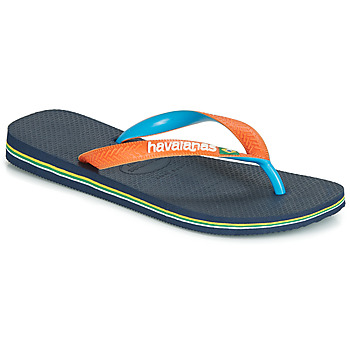 Chaussures Tongs Havaianas BRASIL MIX Marine / Orange