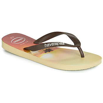 Chaussures Homme Tongs Havaianas HYPE Beige / Marron