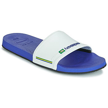 release date: 236af a3d7a Chaussures Homme Claquettes Havaianas SLIDE BRASIL Marine   Blanc