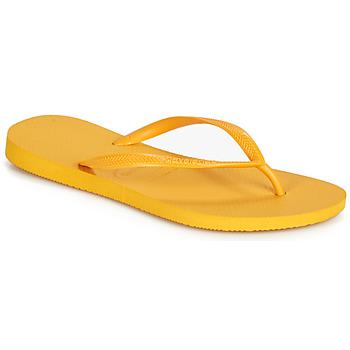 Chaussures Femme Tongs Havaianas SLIM Jaune