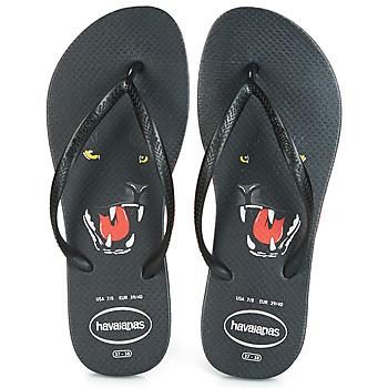 Chaussures Femme Tongs Havaianas SLIM ANIMAL PRINT Noir