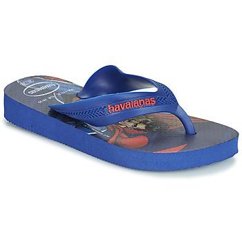 Chaussures Garçon Tongs Havaianas KIDS MAX HEROIS Bleu