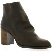 Chaussures Femme Bottines Chio Boots cuir nubuck Marron
