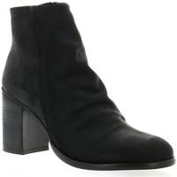 Chaussures Femme Bottines Chio Boots cuir nubuck Noir