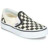 Chaussures Enfant Slip ons Vans CLASSIC SLIP-ON Noir / Blanc