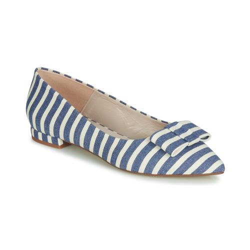 Chaussures Femme Ballerines / babies Fericelli JILONOU Bleu / Blanc