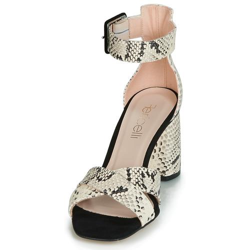 Femme Fericelli Et Jezi Nu pieds BlancNoir Sandales 5RjL4A
