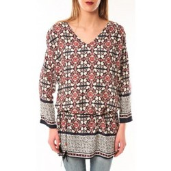 Vêtements Femme T-shirts manches longues De Fil En Aiguille Robe Noémie & Co E1403-37 Noir/Rouge Noir