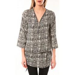 Vêtements Femme Robes De Fil En Aiguille Robe Noémie & Co E1485-13 Noir/Blanc Noir