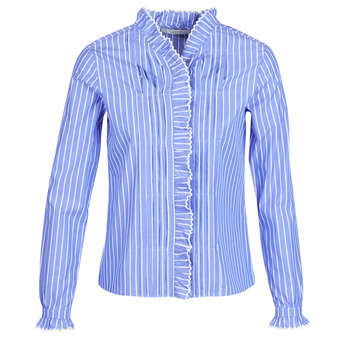 Vêtements Femme Chemises / Chemisiers Maison Scotch LONG SLEEVES SHIRT Bleu clair