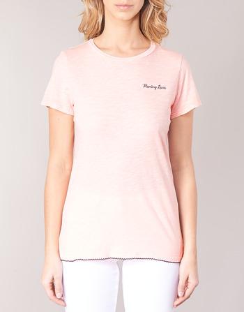Manches Ss shirts T T Vêtements Scotch shirt Femme Rose Maison Courtes QrCxsdht