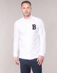 Vêtements Homme Chemises manches longues Scotch & Soda  Blanc
