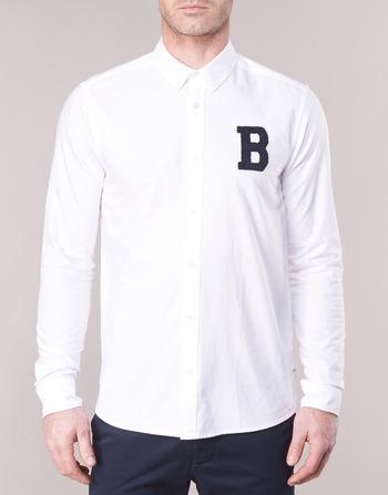 Soda Ams Shirt Blanc With Vêtements Regular Homme Badge Oxford Longues Chemises Manches Scotchamp; Blauw Fit X0k8nwNOP