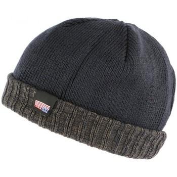 Accessoires textile Bonnets Nyls Création Bonnet docker bleu et gris drapeau USA doublé polaire Gansk Bleu