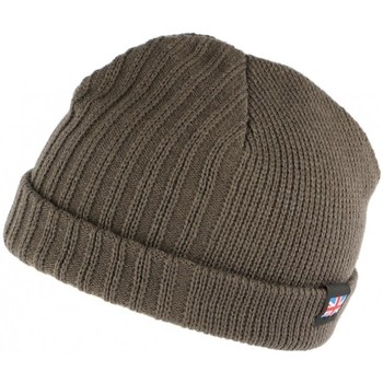 Accessoires textile Homme Bonnets Nyls Création Bonnet court gris drapeau UK double polaire Gris