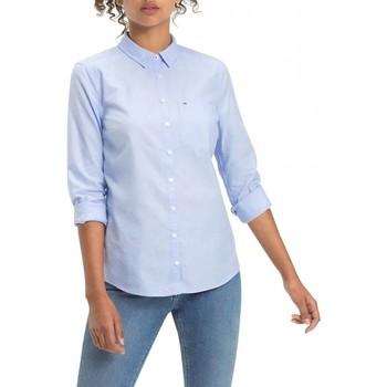 Vêtements Femme Chemises / Chemisiers Tommy Hilfiger Chemise manches longues Bleu Clair
