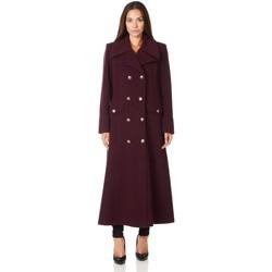 Vêtements Femme Manteaux De La Creme Long manteau d'hiver en laine et cachemire militaire Red