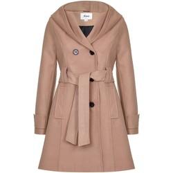 Vêtements Femme Manteaux De La Creme Manteau à capuchon d'hiver Beige