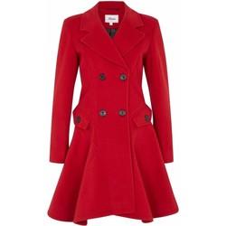 Vêtements Femme Manteaux De La Creme Manteau d'hiver en laine Red
