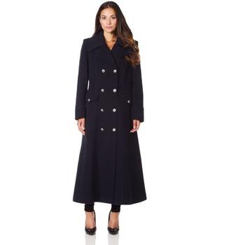 Vêtements Femme Manteaux De La Creme Long manteau d'hiver en laine et cachemire militaire BEIGE