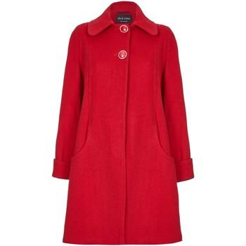 Vêtements Femme Manteaux De La Creme Manteau d'hiver en laine et cachemire Swing Red