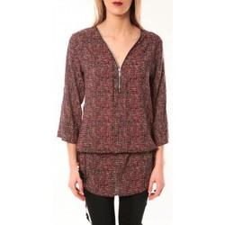 Vêtements Femme T-shirts manches longues De Fil En Aiguille Robe Noémie & Co E1485-37 Rose/Noir Rose