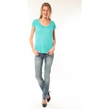 Vêtements Femme T-shirts manches courtes Little Marcel T-Shirt Talin E15FTSS0116 Bleu Turquoise Bleu