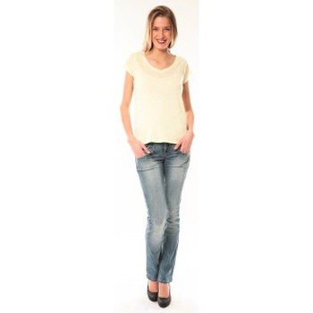 Vêtements Femme T-shirts manches courtes Little Marcel T-Shirt Talin E15FTSS0116 Jaune Jaune