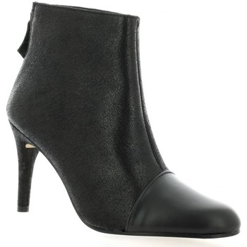 Chaussures Femme Bottines Elizabeth Stuart Boots cuir laminé Noir