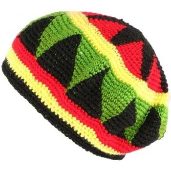 Accessoires textile Bonnets Nyls Création Bonnet Beret Rasta rouge jaune vert Bobley Rouge