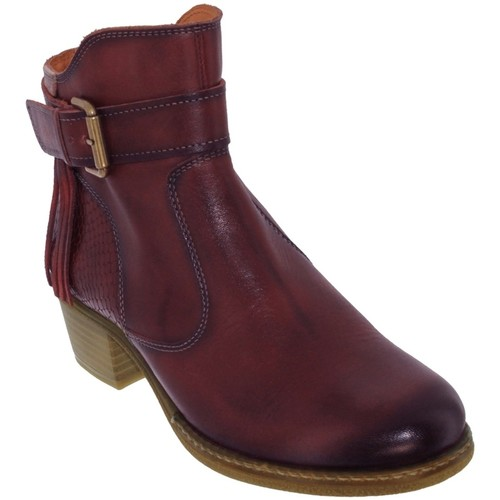 Chaussures Femme Bottines Pikolinos Zaragoza-8917 Bordeaux cuir