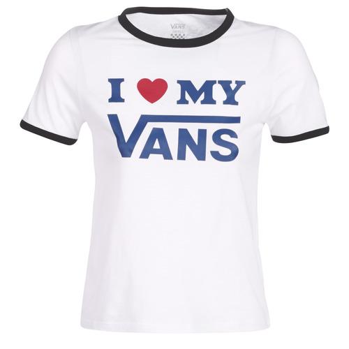 t shirt blanc vans femme
