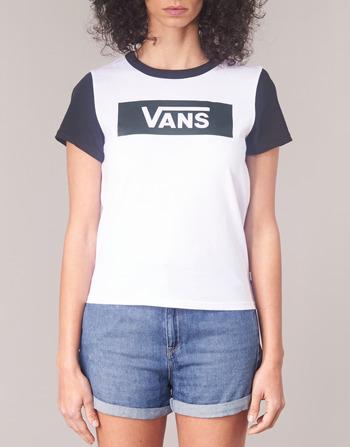 shirts Courtes Range Vêtements Tangle Manches T Ringer Blanc Femme V Vans OPlwZiTkXu
