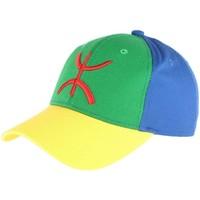 Accessoires textile Casquettes Pays Casquette berbere drapeau bleu vert jaune amazigh Bleu