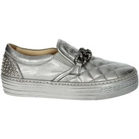 Chaussures Fille Slip ons Florens F0945 Argent