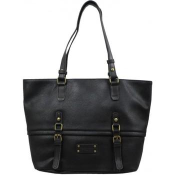 Sacs Femme Cabas / Sacs shopping Fuchsia Sac cabas  Omarion trapèze souple vieilli noir Multicolor