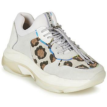 Chaussures Femme Baskets basses Bronx BAISLEY Blanc / Léopard