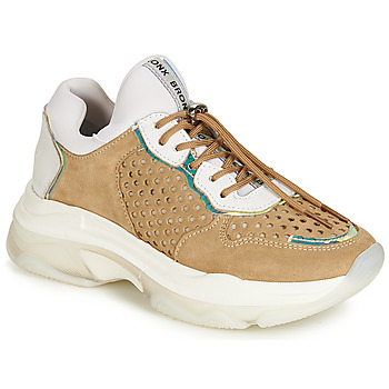 Chaussures Femme Baskets basses Bronx BAISLEY Blanc / Marron